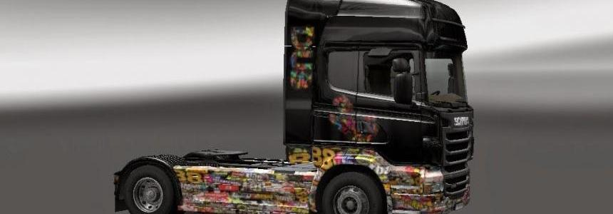 Skin Sticker Bomb Scania R