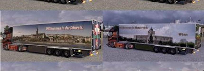 Skinpack trailers Krone Coolliner