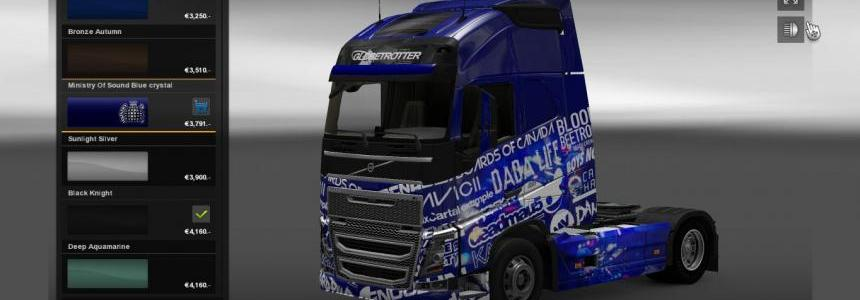 Volvo FH2012 Ministry Of Sound Blue