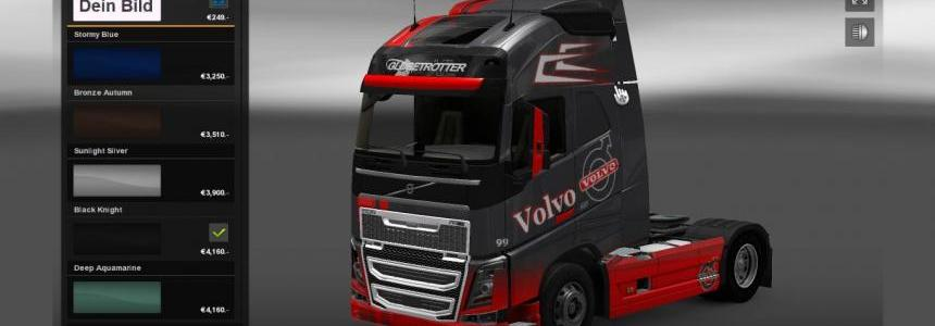 Volvo Grey Red Skin