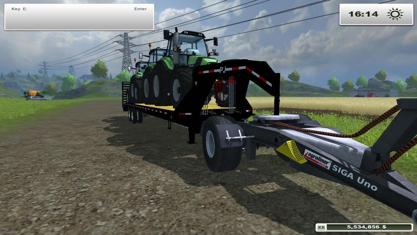 PJ Trailers 40 Gooseneck Flatbed with Ramps FS13 FIXED