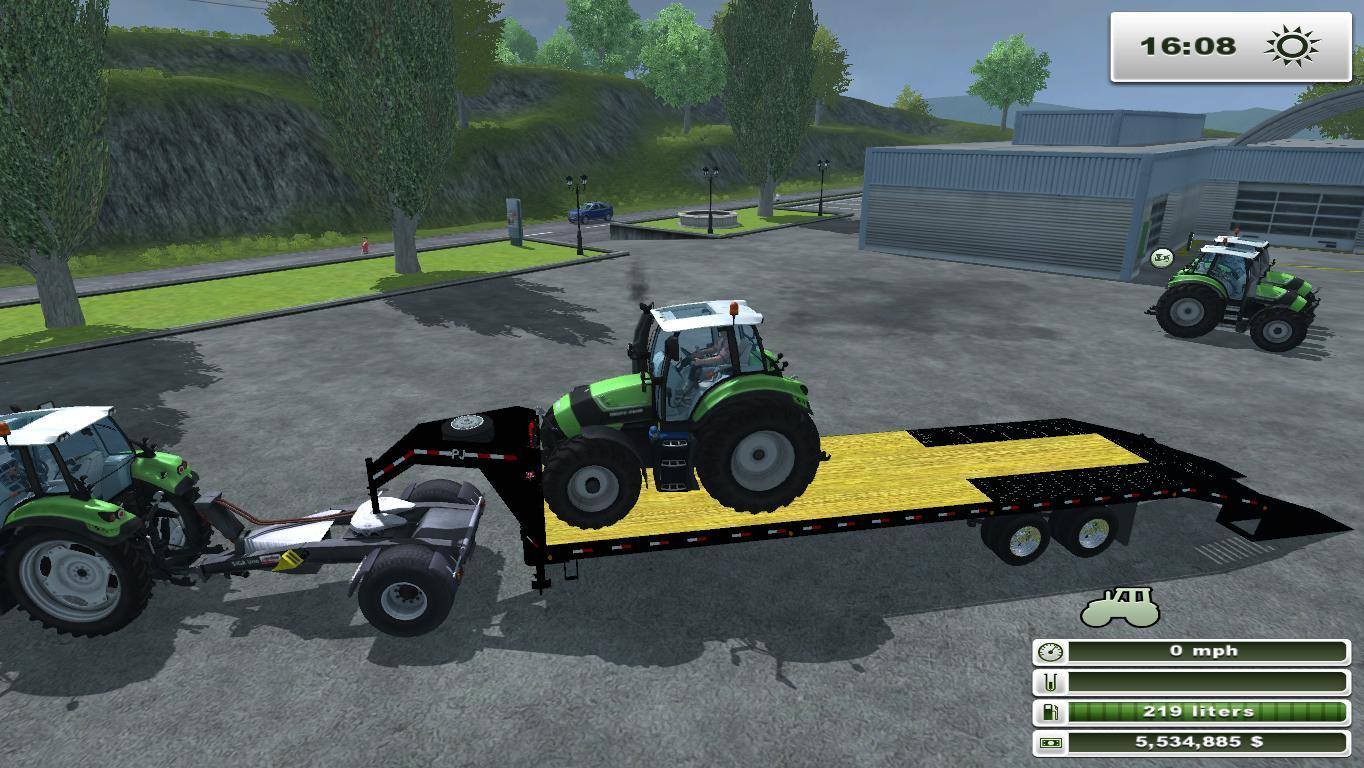 PJ Trailers 40 Gooseneck Flatbed with Ramps FS13 FIXED - Modhub.us
