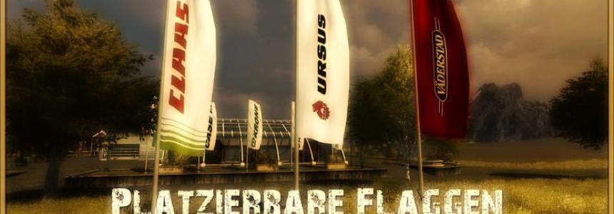 Claas Ursus Vaderstad flags v1.0