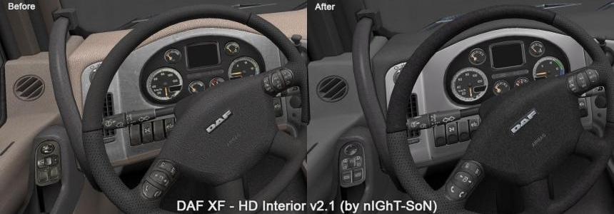 DAF XF - HD Interior v2.1 - Gray/Creme