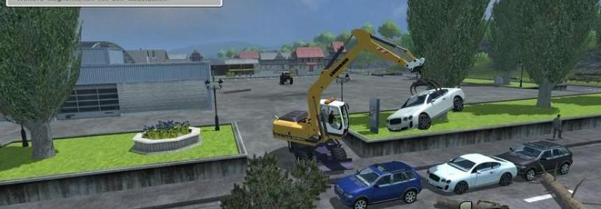 Excavator suspension for forestry pliers v1.0
