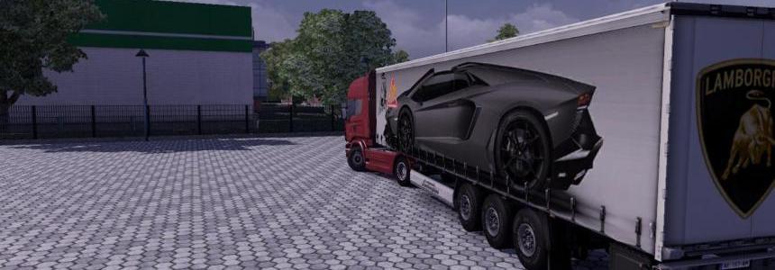 Lamborghini Aventador Roadster Trailer Skin