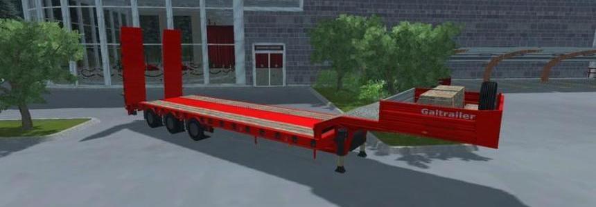 Low Loader Galtrailer Red v1.0