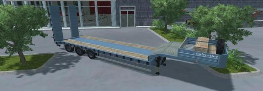 Pack Low Loader Galtrailer v1.0 Blue