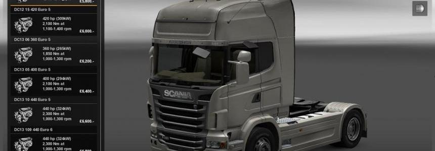 Scania Engine and Gearbox Mod
