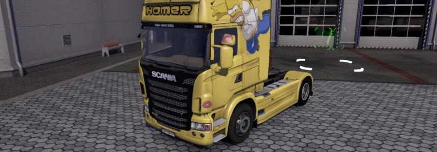 Scania Homer Simpsons Skin