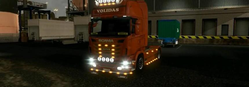 Scania R open pipe for 1.9.22
