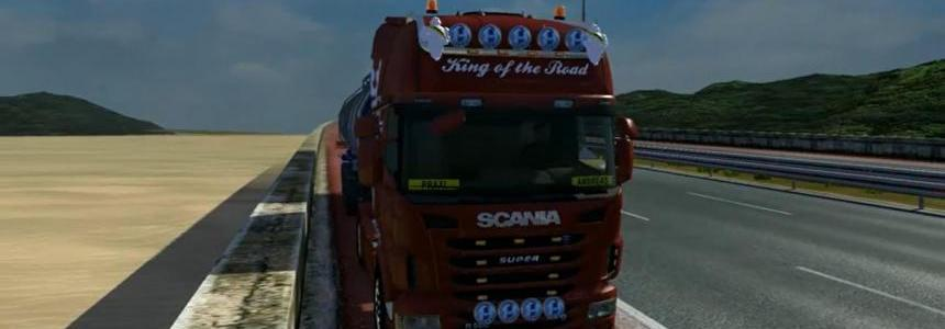 Scania R open pipe sound