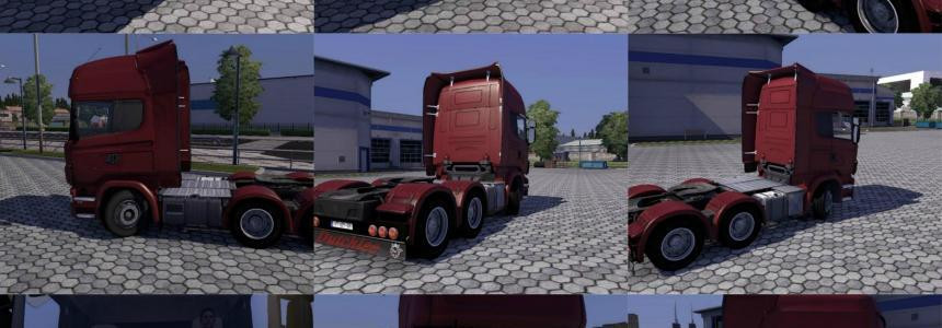 Scania R09 with rear bumper and sunshield upgrades