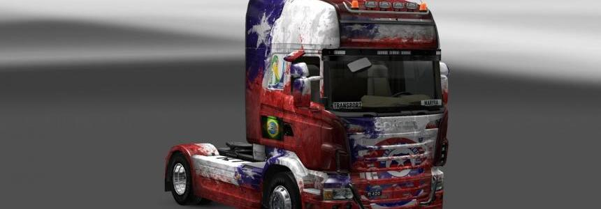 Skin Scania Chile Copa 2014