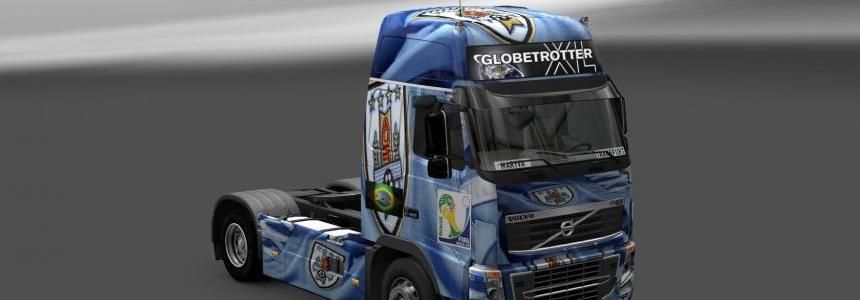 Skin Volvo FH 16 Uruguay Copa 2014