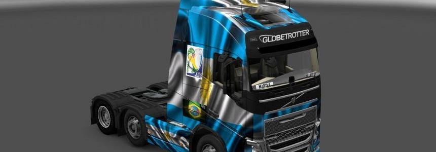 Skin Volvo FH 2012 Argentina Copa 2014