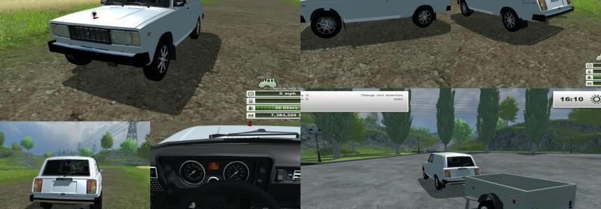 VAZ 2104 Pickup + Trailer