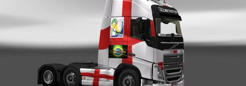 Volvo FH 2012 England Copa 2014 Skin v2