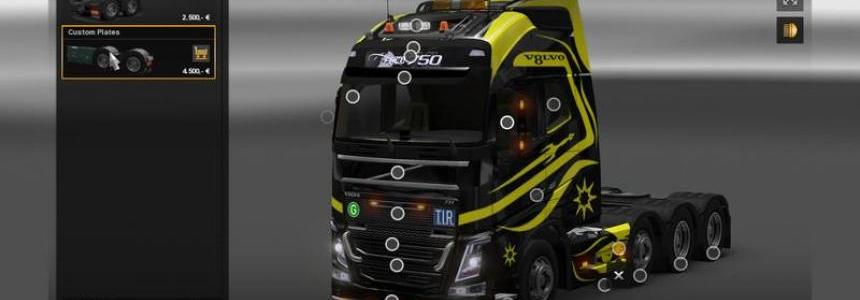 Volvo FH16 6x8 v1.0 Black vs Yellow
