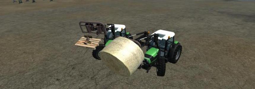 Front loader pallet fork bale v1.0