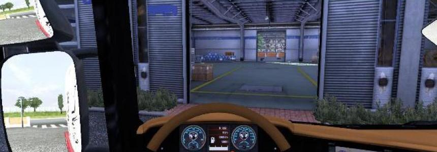Interior Scania R Orange/black 1.9.22