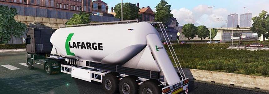 Lafarge Cement Trailer