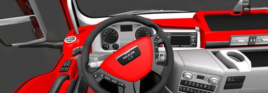 MAN TGX Red Interior