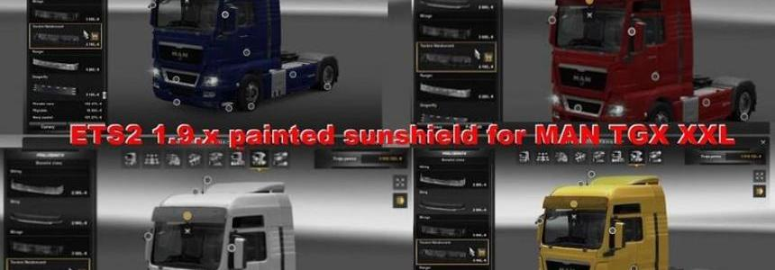 Painted Sunshield for MAN TGX
