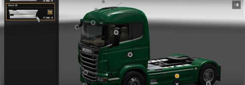 Scania R side skirts V8