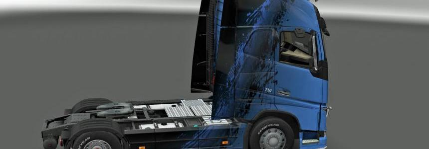 Skin BlueBlack for Volvo FH 2012