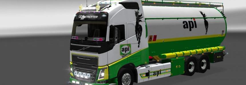 Volvo 2012 – BDF tandem cistern + universal API petroli