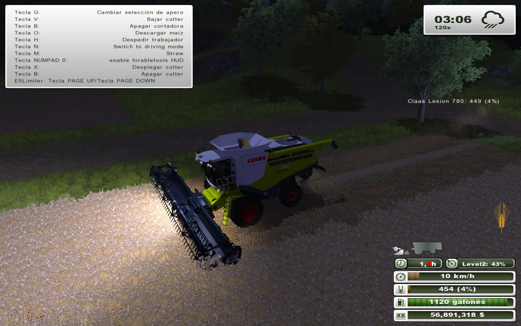Pack Macdon M150 windrower 3