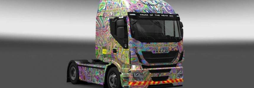 Iveco Hi Way Psychedelic Trucking Skin