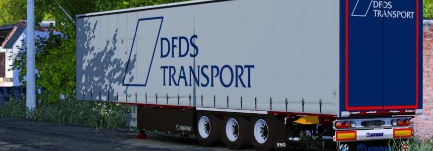 Krone SDP27 DFDS Transport Trailer