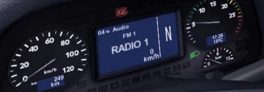 Mercedes Actros 2009 Display