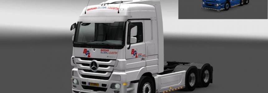 Mercedes Actros BGL skin
