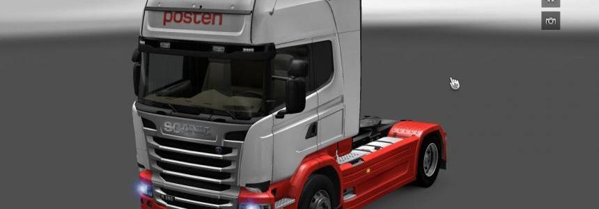 Posten skin Scania Streamline