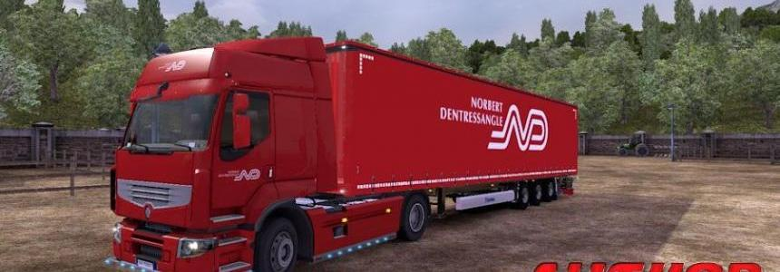 Renault Premium + Trailer Profiliner N.Dentressangle