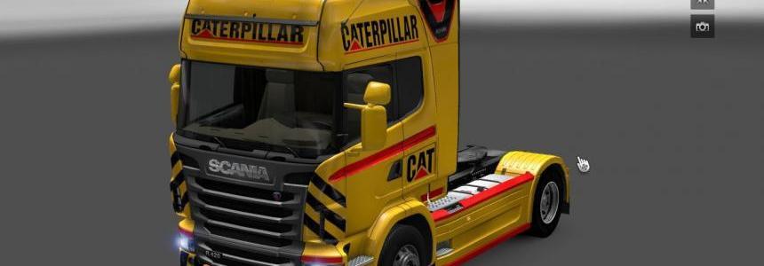 Scania R Cat V8 Skin