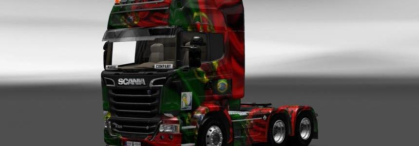 Scania Streamline Portugal Copa 2014 Skin