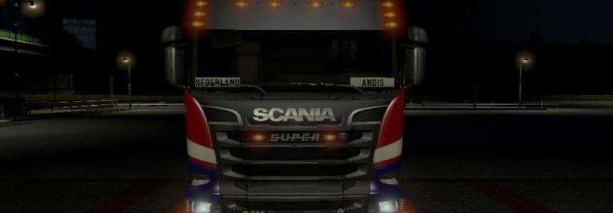 Scania SUPER Badge and Mudflaps