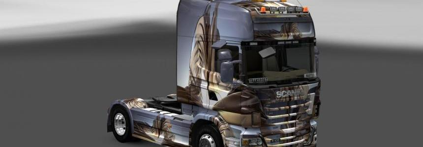 Skin Scania Background 3D Wall