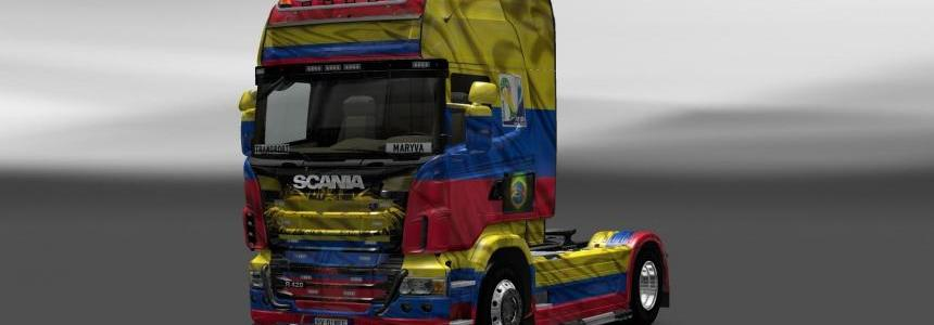 Skin Scania Colombia Copa 2014
