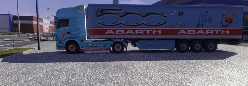Skin Scania R 500 abarth + skin trailer 500 abart + sound