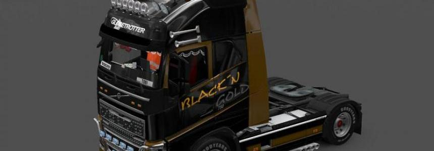 Volvo FH16 Blackn Gold v1.0