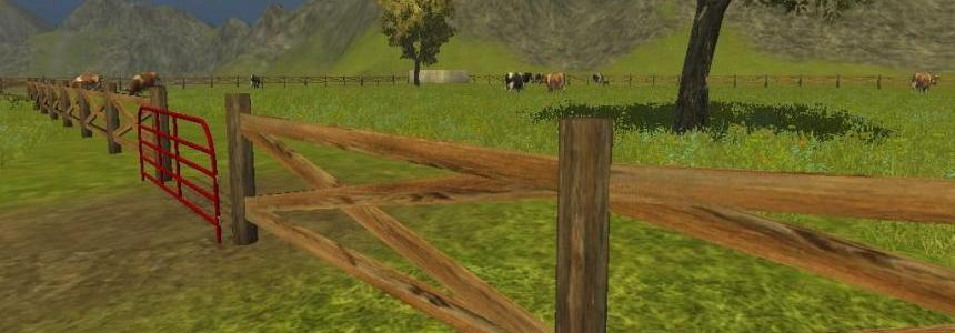 Wood Farm Fence