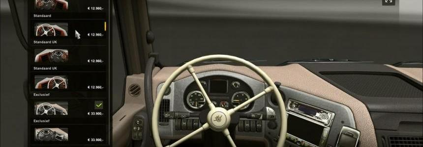 Daf XF 4-spoke steering wheel V3.0