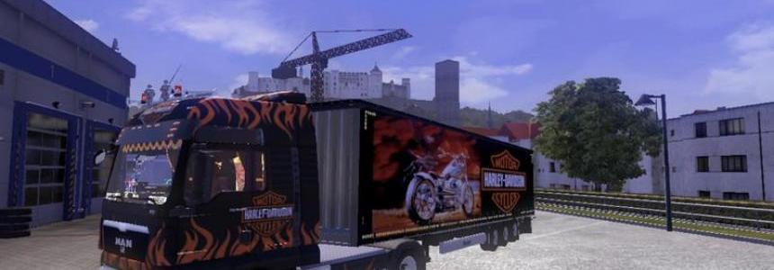 MAN Tgx Harley Davidson v1.0