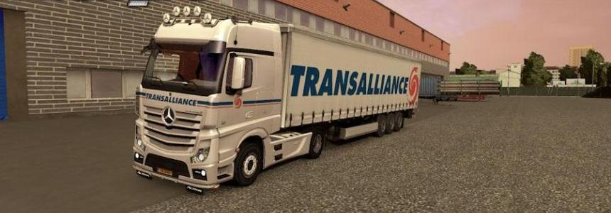 Mercedes MPIV + Trailer Transalliance
