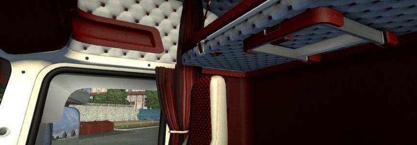 RJL's Scania T red white interior